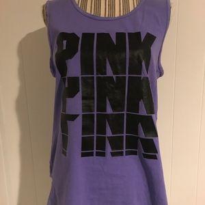 PINK Purple Muscle Tank
